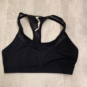 Fabletics Black Mesh Bra